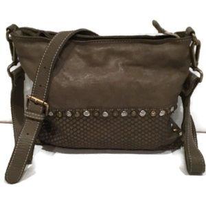 Costanza Rota Leather Studded Clutch Crossbody Bag